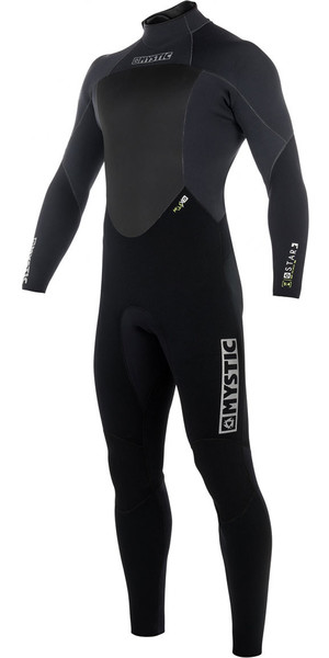 2018 Mystic Star 4/3mm GBS Back Zip Wetsuit - Black 180019