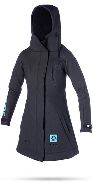 2018 Mystic Womens Rez Team SHARKSKIN Neoprene Jacket in Black 130430