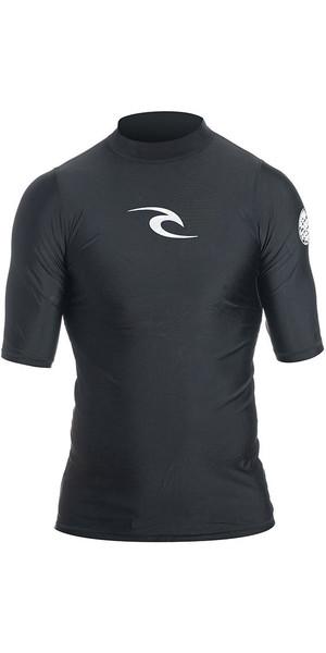 2018 Rip Curl Corpo Short Sleeve UV Tee Rash Vest BLACK WLE4KM