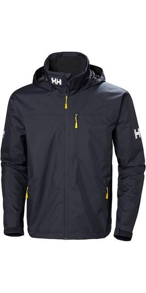 2019 Helly Hansen Crew Hooded Jacket Graphite Blue 33875