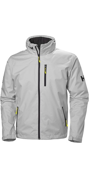 2019 Helly Hansen Hooded Crew Mid Layer Jacket Grey Fog 33874