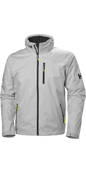 2021 Helly Hansen Hooded Crew Mid Layer Jacket Grey Fog 33874