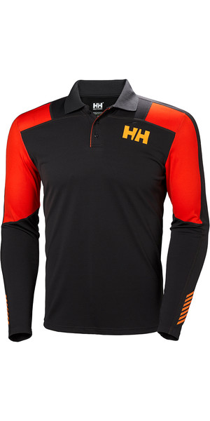 2019 Helly Hansen Lifa Active Light LS Polo Ebony 49332