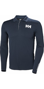 2019 Helly Hansen Lifa Active Light LS Polo Navy 49332