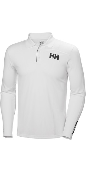 2019 Helly Hansen Lifa Active Light LS Polo White 49332