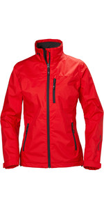 2021 Helly Hansen Womens Crew Jacket Alert Red 30297