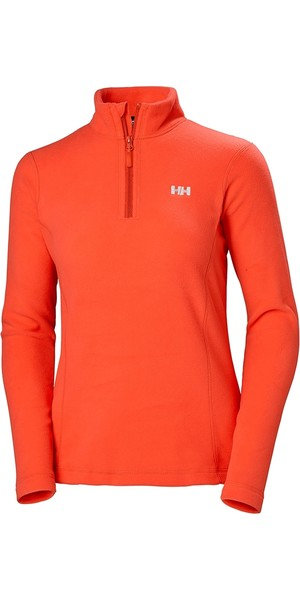 2019 Helly Hansen Womens Daybreaker 1/2 Zip Fleece Cherry Tomato 50845