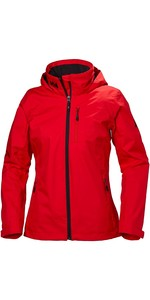 2019 Helly Hansen Womens Hooded Crew Mid Layer Jacket Alert Red 33891