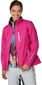 2019 Helly Hansen Womens Hooded Crew Mid Layer Jacket Dragon Fruit 33891
