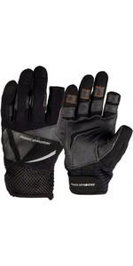 2020 Magic Marine Junior Three Finger Ultimate Sailing Gloves Black 180005