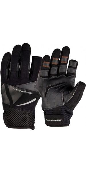 2019 Magic Marine Junior Three Finger Ultimate Sailing Gloves Black 180005