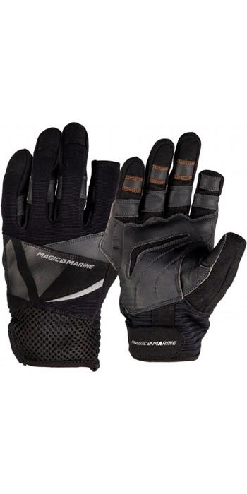 2021 Magic Marine Three Finger Ultimate Sailing Gloves Black 180004