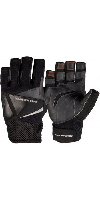 2020 Magic Marine Junior Short Finger Ultimate Sailing Gloves Black 180007