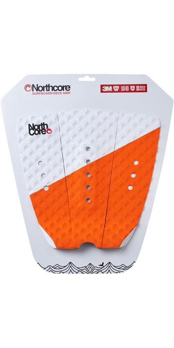 2020 Northcore Ultimate Grip Deck Pad Orange / White NOCO63E