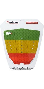 2021 Northcore Ultimate Grip Deck Pad The Rasta Red / Green / Yellow NOCO63G