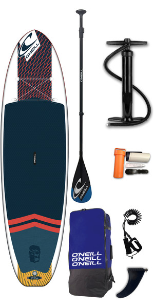 2019 O'Neill Performance Hyperfreak 10'6 Inflatable SUP Board, Paddle, Bag & Leash
