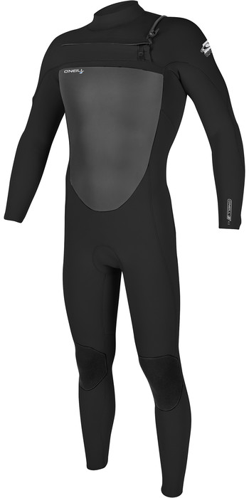 2021 O'Neill Mens Epic 3/2mm Chest Zip Wetsuit 5353 - Black