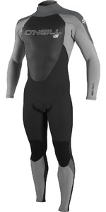 2019 O'Neill Mens Epic 4/3mm Back Zip Wetsuit Abyss / Cool Grey / Graphite 4212