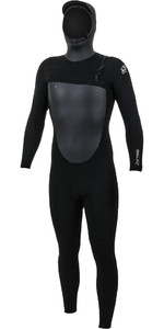 2021 O'Neill Mens Epic 6/5/4mm Chest Zip Hooded Wetsuit Black 5377