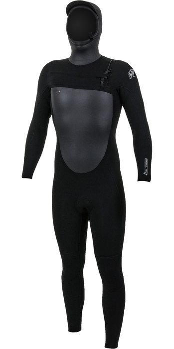 2020 O'Neill Mens Epic 6/5/4mm Chest Zip Hooded Wetsuit Black 5377