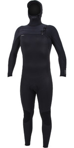 2019 O'Neill Mens HyperFreak+ 5/4mm Chest Zip Hooded Wetsuit Black 5347