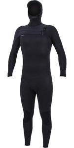 2020 O'Neill Mens HyperFreak+ 5/4mm Chest Zip Hooded Wetsuit 5347 - Black