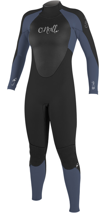 2020 O'Neill Womens Epic 4/3mm Back Zip GBS Wetsuit Black / Mist 4214