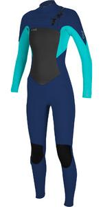 2020 O'Neill Womens Epic 4/3mm Chest Zip GBS Wetsuit 5356 - Navy / Aqua