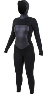 2020 O'Neill Womens Epic 6/5/4mm Chest Zip Hooded Wetsuit Black 5378