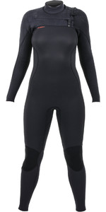 2021 O'Neill Womens Hyperfreak+ 3/2mm Chest Zip Wetsuit Black 5348
