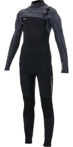 2019 O'Neill Youth Hyperfreak+ 4/3mm Chest Zip GBS Wetsuit Black / Graphite 5351