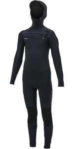 2019 O'Neill Youth Hyperfreak+ 5/4mm Chest Zip Hooded Wetsuit Black 5352