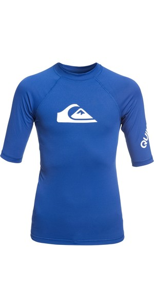 2019 Quiksilver Boys All Time Short Sleeve Rash Vest Electric Royal EQBWR03074