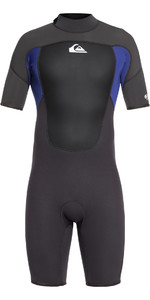 2021 Quiksilver 2mm Prologue Back Zip Shorty Wetsuit Black / Night Blue EQYW503010