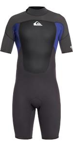 2021 Quiksilver 2mm Prologue Back Zip Shorty Wetsuit Black / Night Blue EQYW503010