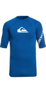 2020 Quiksilver All Time Short Sleeve Rash Vest Electric Royal Blue EQYWR03136