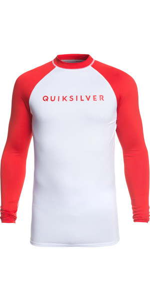 2019 Quiksilver Always There Long Sleeve Rash Vest Red EQYWR03143