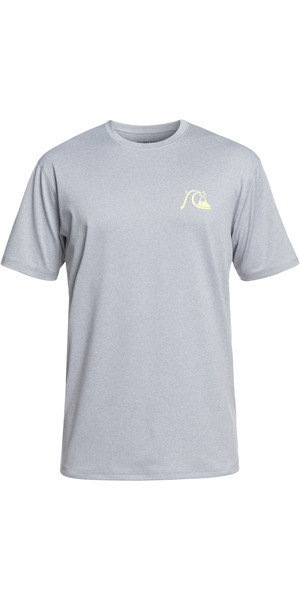 2019 Quiksilver El Capitan Short Sleeve T-Shirt Fit Rash Vest Heather Grey EQYWR03158