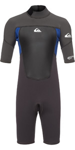 2021 Quiksilver Junior Prologue 2mm Shorty Wetsuit Graphite / Blue EQBW503008