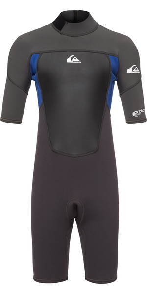 2019 Quiksilver Junior Prologue 2mm Shorty Wetsuit Graphite / Blue EQBW503008