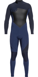 2019 Quiksilver Mens Syncro Series 3/2mm GBS Back Zip Wetsuit Iodine / Slate Blue EQYW103037