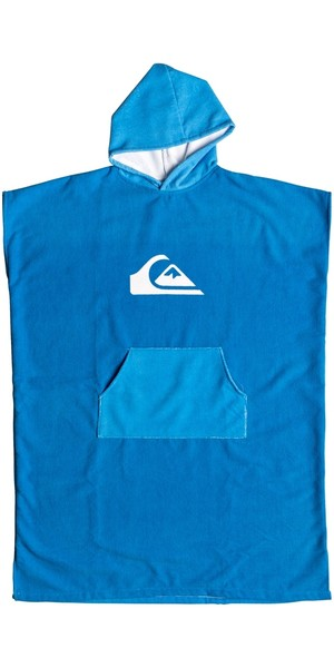 2019 Quiksilver Microfiber Hooded Towel / Change Robe Blue EQYAA03741