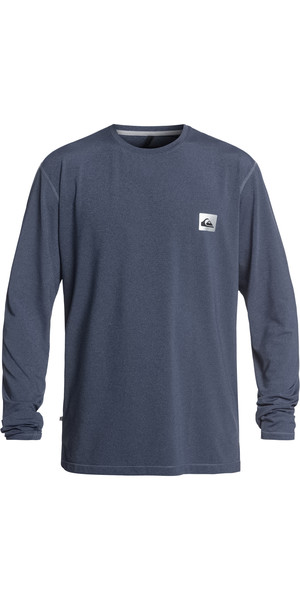 2019 Quiksilver Salty Dogs Long Sleeve T-shirt Rash Vest Blue Heather EQYWR03148