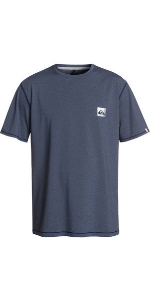 2019 Quiksilver Salty Dogs Short Sleeve T-shirt Rash Vest Blue Heather EQYWR03149