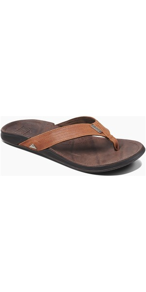 00027d5e4f59 2019 Reef Mens J-Bay III Flip Flops Coffee   Bronze RF002616 Reef