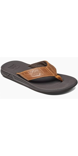 f65975b64 2019 Reef Mens Phantom Flip Flops Black   Brown RF002025 Reef