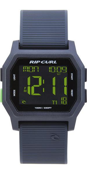 2019 Rip Curl Atom Digital Watch With Silicone Strap Black / Green A2701