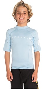 2019 Rip Curl Boys Dawn Patrol Short Sleeve Rash Vest Blue WLU9HJ