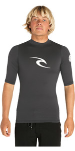 2020 Rip Curl Corpo Short Sleeve UV Tee Rash Vest Dark Grey WLE4KM
