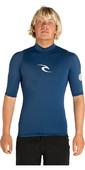 2020 Rip Curl Corpo Short Sleeve UV Tee Rash Vest Navy WLE4KM